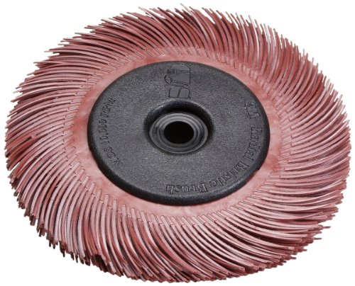 Scotch-Brite(TM) Radial Bristle Brush Replacement Disc T-C 220 Refill, Aluminum Oxide, 6000 rpm, 7-79/128 Diameter x 1 Width, Red (Pack of 70) by Scotch-Brite