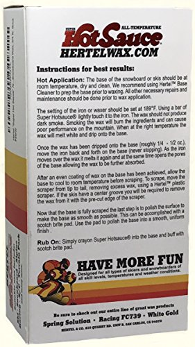 "Amazon.com : Hertel ""Super Hot Sauce"" All Temperature Ski and Snowboard Wax, 3/4 lb Brick : Sports & Outdoors"
