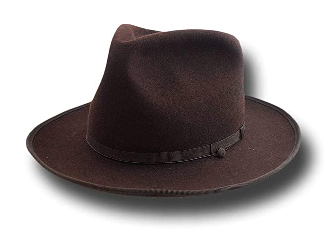 af31bb83572cc9 Image Unavailable. Image not available for. Color: Fedora Johnny top quality  replica hat brown