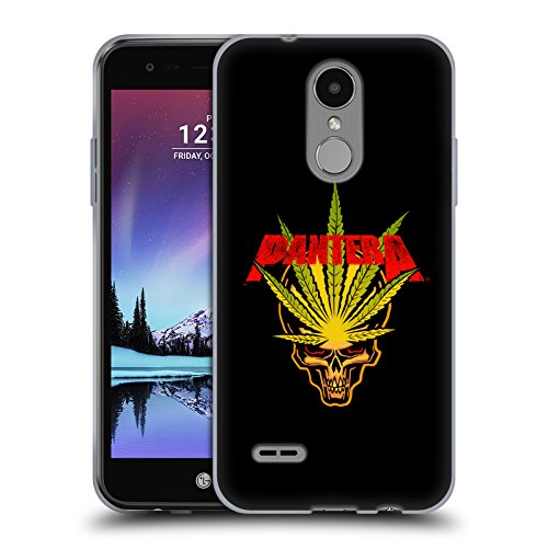 Official Pantera Pot Leaf Art Soft Gel Case for LG K4 (2017) / Phoenix 3