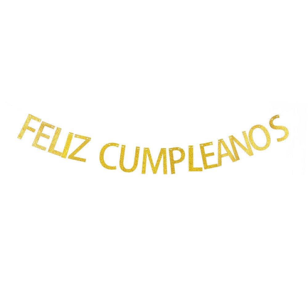Amazon.com: Feliz Cumpleanos Banner, Spanish Happy Birthday ...