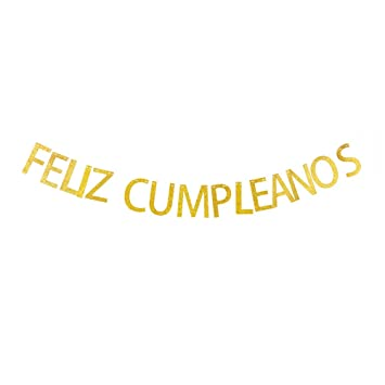 Amazon.com: Feliz Cumpleanos Banner, Spanish Happy Birthday ...