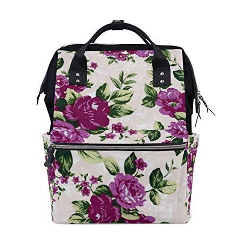 (Backpack Floral Pattern New Womens Laptop Backpacks Hiking Bag Travel Daypack)