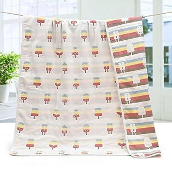 Toallas de baño 100% algodón 6 capas gasa niños se niños toalla de baño (espesan los niños manta recién nacido Toalla se 110110 cm: Amazon.es: Hogar