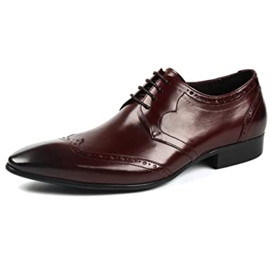 Herren Echtes Leder Derby Klassische Oxford Business Brogues Formelle  Schnürschuh Schuh Uniform Uniform Sandalen Schuhe, 5224265e72