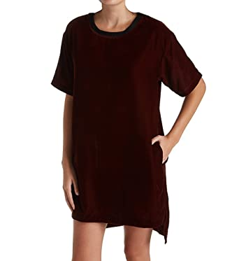 DKNY Luxe Life Velvet Sleepshirt (2319296) at Amazon Women s Clothing store  8cf3487bc