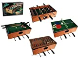 5 in 1 deluxe wooden compendium of games, Table games set. Billiard table, football table, table...