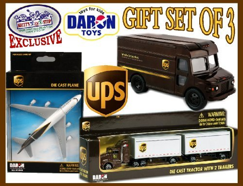 daron-ups-united-parcel-service-trucks-plane-deluxe-gift-set-by-daron