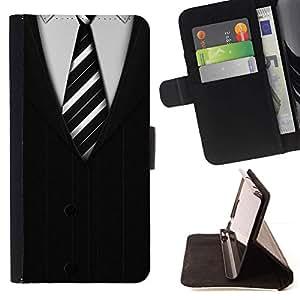 Momo Phone Case / Flip Funda de Cuero Case Cover - Cravatta White Collar Man Stripes - LG G4c Curve H522Y (G4 MINI), NOT FOR LG G4