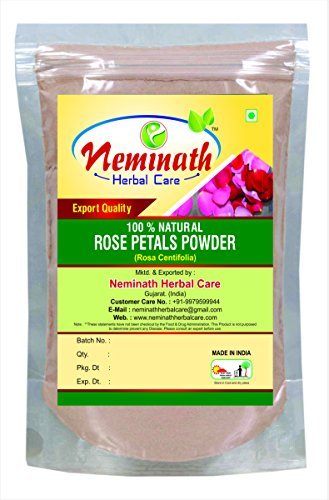 100% Pure Rose Petals Powder (Rosa Centifolia) for Facial Mask Formulation - 1/2 LB/ 227 gms / 8 ()