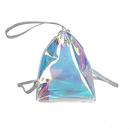 Sencillo Vida Carteras de Mano Mujer Triángulo Transparente ...