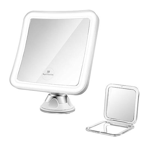 75 opinioni per Jerrybox Specchio da Trucco con Illuminazione LED,con Ingrandimento