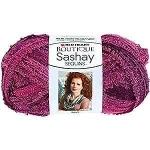 Coats Yarn Red Heart Boutique Sashay Sequins Yarn, Phlox