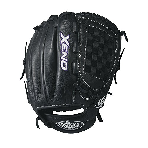 Louisville Slugger Xeno Softball Gloves, Right Hand, 12'', Black/White by Louisville Slugger