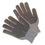 G & F 14431M-120 Natural Cotton Work Gloves with double-side PVC Dots, Medium (Pack of 120 Pairs)