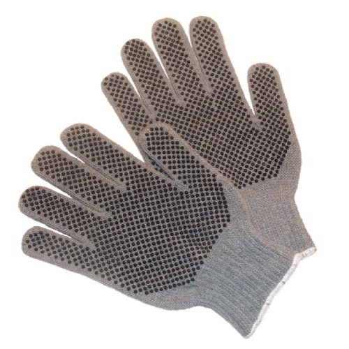 Pvc Dotted Cotton Glove (G & F 14431M-DZ Natural Cotton Work Gloves with Double-Side PVC Dots, Knit Work Gloves, Medium, 12 Pairs)