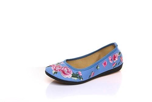 Lazutom - Mocasines de Lona para Mujer: Amazon.es: Zapatos y complementos