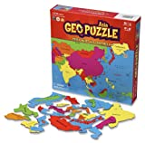GeoPuzzle Asia - Educational Geography Jigsaw Puzzle (50 pcs)