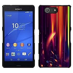 // PHONE CASE GIFT // Duro Estuche protector PC Cáscara Plástico Carcasa Funda Hard Protective Case for Sony Xperia Z3 Compact / Orange Purple Light Black Flame Speed /