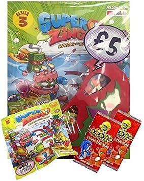 SUPERZINGS Series - Juego de 3 arrancadores (Incluye Paquete de iniciación y 10 Paquetes de fichas, 2 Tarjetas de identificación GoGo): Amazon.es: Juguetes y juegos
