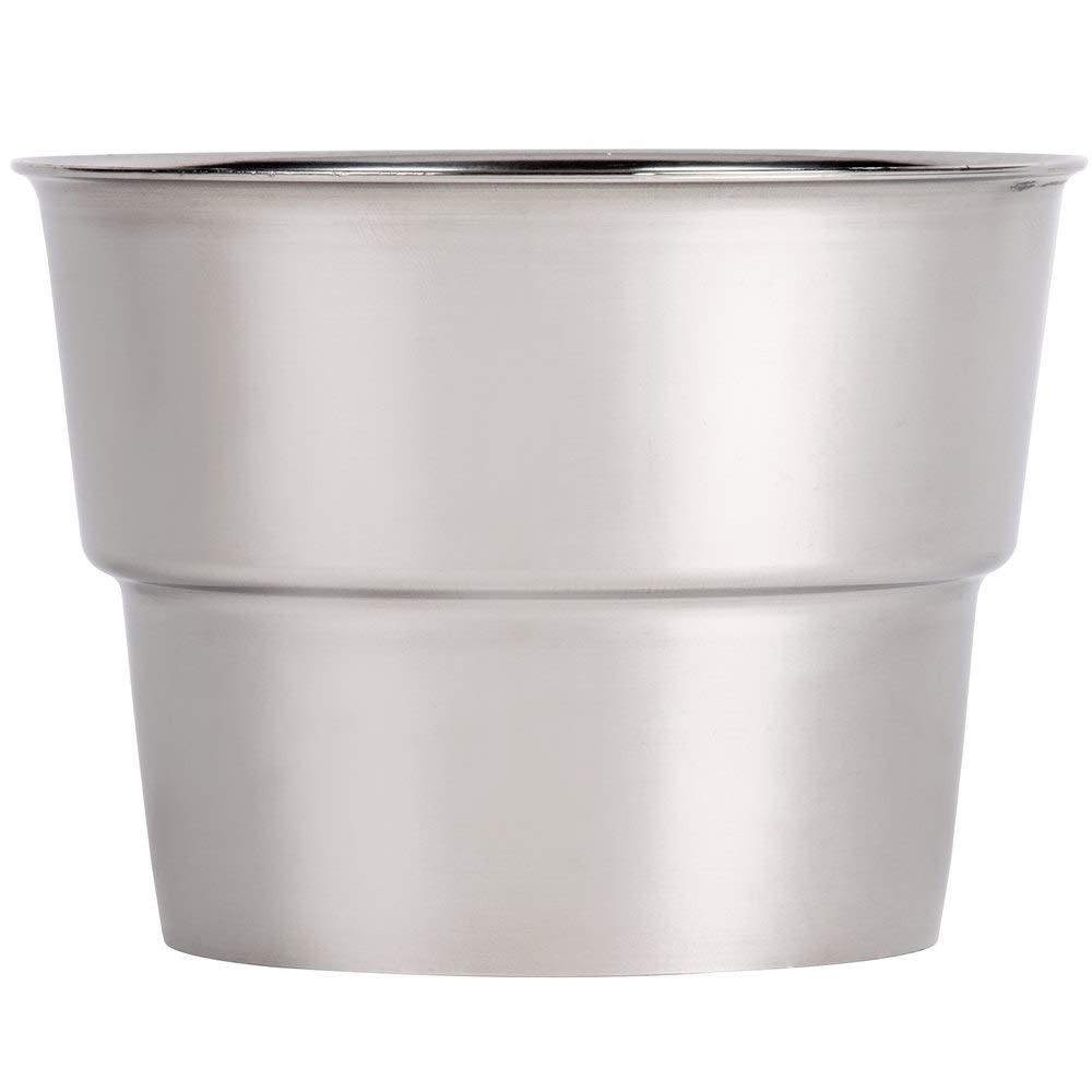 TableTop King Malt Cup Collar for 3 3/8'' Cups - Stainless Steel with 4'' Top Diameter