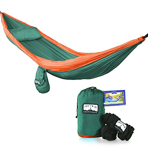 lightweight nylon hammock   single extra large parachute hammock for camping backpacking travel hiking yard  removable pillow pouch and 8 ft  tree     4 5 foot christmas tree  amazon    rh   amazon