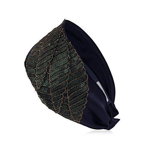 CHIC YOU Pince à cheveux Bijoux Bijoux cheveux pinces à cheveux frises bord large feuilles, tempérament art tissu