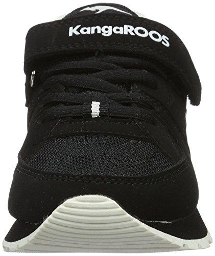 Kangaroos K-Jog Vi - Zapatilla Baja Unisex Niños Blau (Black/White)