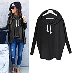Women Blouse ,Ieason Women Sweatshirt Bow Neck Long Sleeve Pullovers Tops Blouse (S, Black)