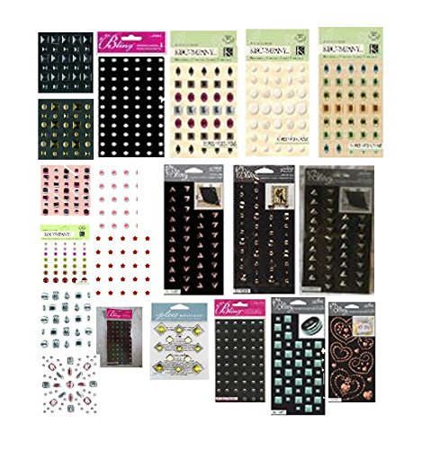 Jolee's Boutique - Adhesive Embellishments Assortment - 10 Different Styles, 30 Sheets Total - Studs, Rhinestones, gems from Jolee's Boutique
