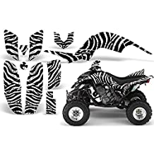 CreatorX Yamaha Raptor 660 Graphics Kit Decals Stickers Zebra Camo White