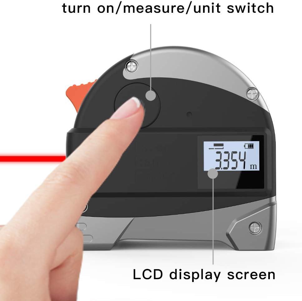 Ameter 2 in 1 Laser Tape Measure metric scale Combine Tape Measure ...