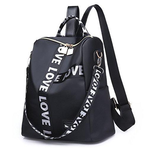 de Blanco Nylon Bolso Negra Mochilas Kigurumi Mochilas Viaje Escolares Mujer Casual Mochila 8EqwPS1