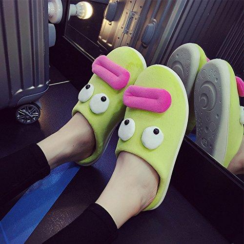 chaleureux moelleux chaussures l'hiver LaxBa hiver Accueil L'hiver Chaussons au Chambre Chaussons en antiglisse Chaussons chaud Green wWqx4Fnqg