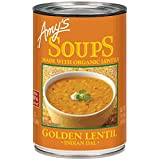 Amys Organic Indian Golden Lentil, 398ml (Pack of 12)