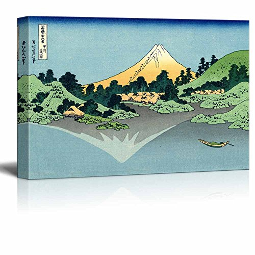 Mount Fuji Reflects in Lake Kawaguchi seen from The Misaka Pass in Kai Province by Katsushika Hokusai
