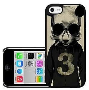 Panda Wearing Grey Hoodie Hard Snap on Phone Case (iPhone 5c)
