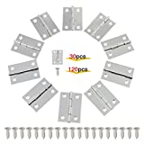 OCR 30PCS 2Inch Folding Butt Hinges Stainless Steel Home Furniture Hardware Cabinet Hinges with 120PCS Screws(2inch 30pcs)