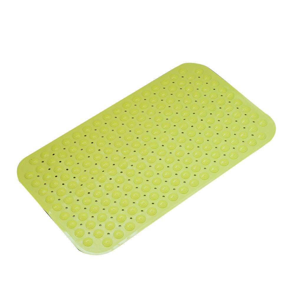 Bath Mat,Kids' Bath Rugs Bath Mat Rug Carpet Door Mat Non-Slip Mat Take A Shower Bathing Foot Cushion Household Bathtub WC Waterproof WEIYV (Color : Green, Size : 4678cm)