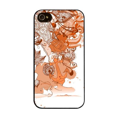 Diabloskinz H0026-0004-0055 Abstract Garden Orange Schutzhülle für Apple iPhone 4/4S