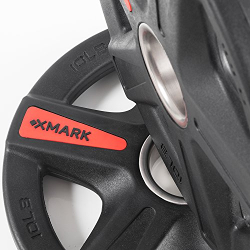 XMark Texas Star 45 lb Set Olympic Plates, Patented Design, One-Year Warranty, Olympic Weight Plates by XMark Fitness (Image #3)