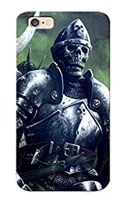 LYPCGKX478MZpwc Awesome Warriors Undead Skulls Armor Swords Helmet Fantasy Dark Weapons Armor Flip Case With Fashion Design For Iphone 6 As New Year's Day's Gift