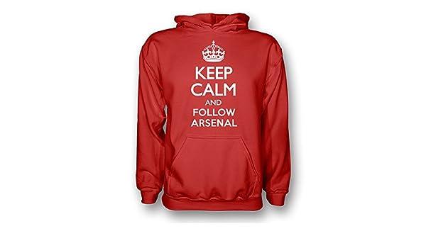 7e269bb03 Amazon.com   Gildan Keep Calm and Follow Arsenal Hoody (red) - Kids    Sports   Outdoors