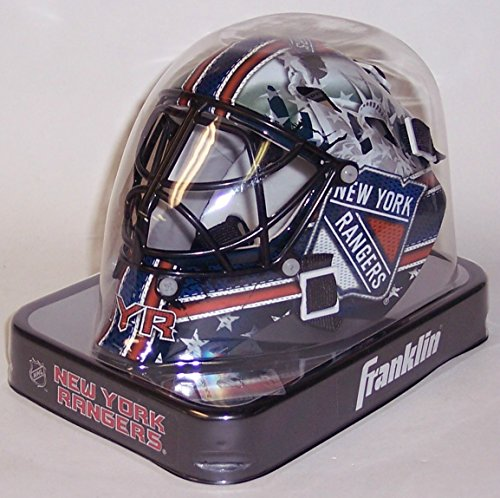 NY New York Rangers Franklin Sports NHL Mini Goalie Mask - New in Box - Mini Hockey Goalie Mask