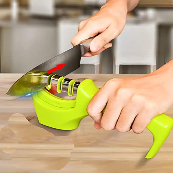 Amazon.com: rápido sacapuntas 3 etapas afilador de cuchillo ...