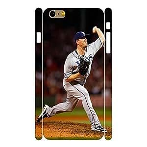 Customized Hard Sports Series Designer Print Baseball Player Print Phone Shell Skin for Iphone 6 Plus Case - 5.5 Inch