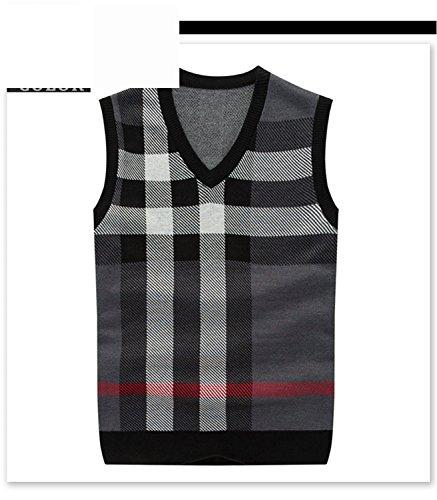 Musamk Dashing V-neck Wool Cashmere Vest Sleeveless S-3XL...
