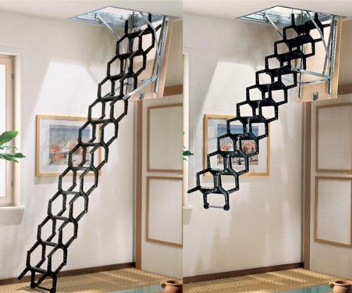 Mister Step ADJ Treppen in Bausätzen - Höhe 100x70 cm. Version mit abschließbarer Luke