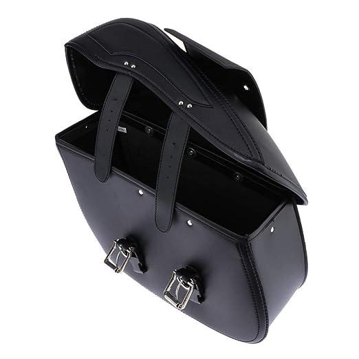 non-brand 1Par Retro Alforjas Laterales de Motocicleta Bolsa Almacenamiento de Equipaje Herramientas para Kawasaki