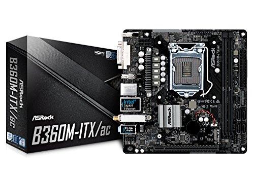 ASRock B360M-ITX/AC LGA1151/Intel B360/DDR4/SATA3&USB3.1/M.2/Wi-Fi/GbE/Mini-ITX Motherboard